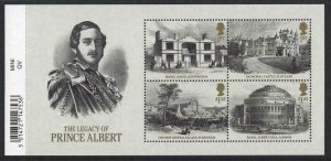 2019 Legacy of Prince Albert Barcode Miniature Sheet UNMOUNTED MINT