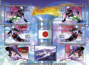 Central African Republic 98 Olympics Nagano Sheet Perf.mnh