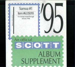 1995-1999 Samoa Scott Stamp Album Supplement Pages
