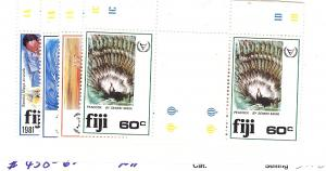 Fiji, 438-41, International Year of Disabled, Gutter Pr, MNH