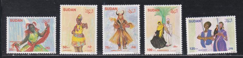 Sudan # 392-396, Traditional Dances, NH, 1/2 Cat.