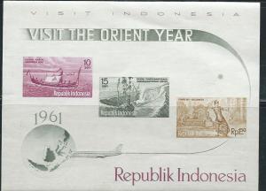 Indonesia  #507,508 & 515 Souvenir Sheet  ( MNH)  CV $6.00