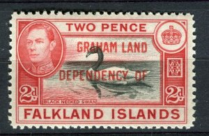 FALKLANDS; 1941 early GRAHAM LAND Optd. on GVI Mint hinged 2d. value