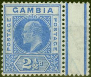 Gambia 1905 2 1/2d Brt Blue SG60 Good MNH