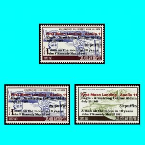 Apollo 11 Moonlanding Lundy 1969 Kennedy Eagle Cpl set black red inverted