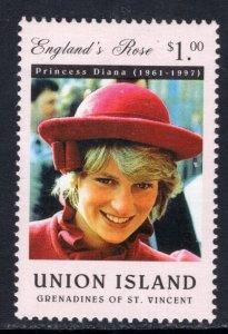 St Vincent Grenadines Union Island 251 Princess Diana MNH VF