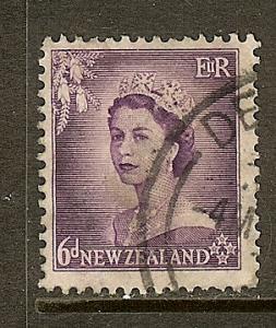 New Zealand, Scott #294, 6p Queen Elizabeth, Used