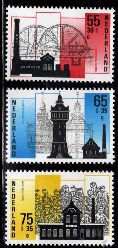 Netherlands Scott B626-B628 MNH**  1987 Indurstry set
