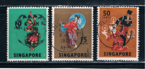 Singapore  88-89-93 Used Dancers (S0449)