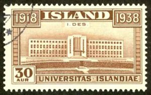 Iceland Sc# 210 Used 1938 30a Independence 20th