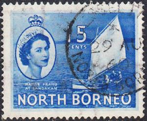 North Borneo #268 Used