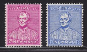 Ireland Sc 153-154 MNH. 1954 Cardinal Newman, complete set, F-VF