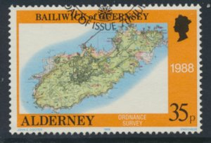 Alderney  SG A41  SC# 41   Bastides Maps Used First Day Cancel - as per scan