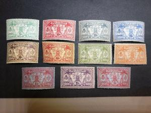 French New Hebrides Scott 11-21 Mint OG CV $59.80