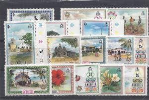 Anguilla, 145-159 (15v), Various Designs Singles, **MNH**