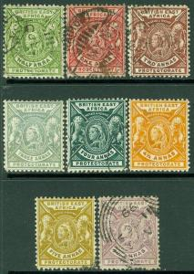 EDW1949SELL : BRITISH EAST AFRICA 1896-1903 Scott #72/81 Mint or Used. Cat $70.