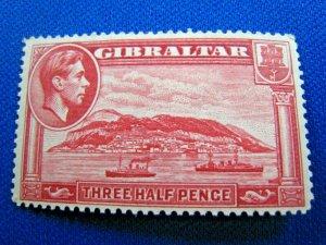 GIBRALTAR  1938  -  SCOTT # 109  -   MH       (X24)
