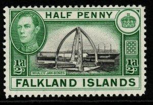 FALKLAND ISLANDS SG146 1938 ½d BLACK & GREEN MTD MINT
