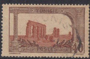 TUNISIA  SC# 44 USED  40c 1906-26  SEE SCAN