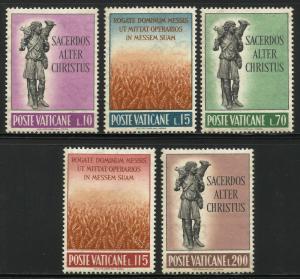 Vatican City 1962 Scott# 330-334 MNH