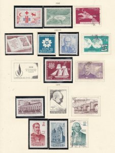CHILE ^^^^^^1969-70   MNH  & used   collection  $$@ dca302xxbc h302