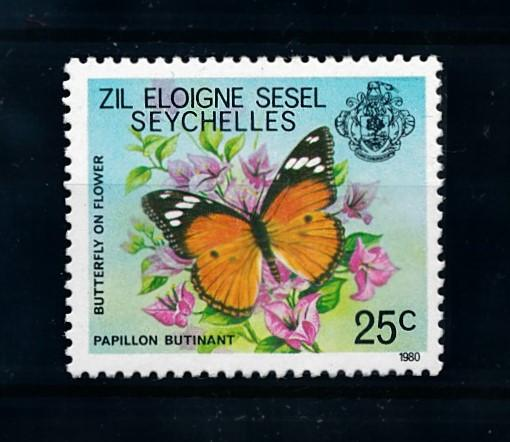 [70722] Seychelles Zil Eloigne Sesel 1980 Insects Butterflies From set MNH