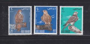 Abu Dhabi 12-14 Set MNH Birds (C)