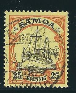German Samoa 61 Mi 11 Used F/VF 1900 SCV $14.00