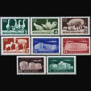 BULGARIA 1955 - Scott# 882-9 Econimy Set of 8 NH