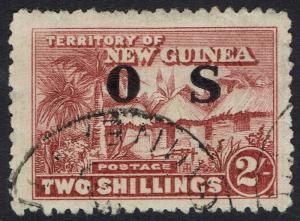 NEW GUINEA 1925 HUT OS 2/- USED