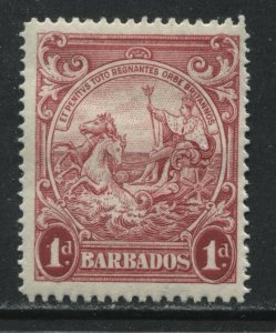 Barbados KGVI 1938 1d carmine perf 13 1/2 by 13 mint o.g. hinged