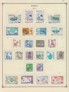 Korea Japan Kuwait Jamaika Alte Interessante Sammlung auf Album Seiten Z395