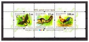 SRI LANKA 2018 Wild Animals sheetlet MNH