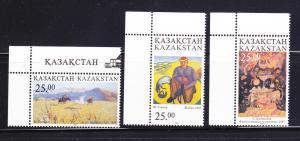 Kazakhstan 200-202 Set MNH Art, Paintings