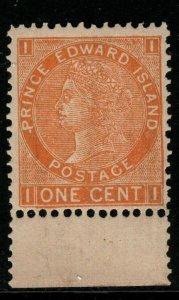 PRINCE EDWARD ISLAND SG43 1872 1c ORANGE MNH