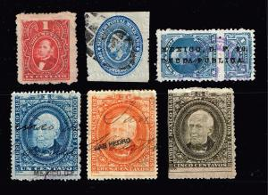 MEXICO 19TH REVENUE STAMP COLLECTION LOT  #1