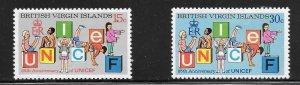 British Virgin Islands  (1971)  - Scott # 233 - 234, MH