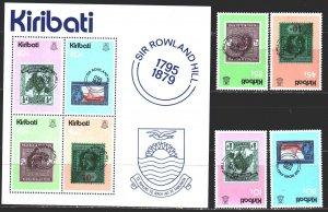 Kiribati. 1979. 338-41, bl 6. stamps on stamps. MNH.