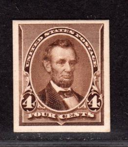 $US Sc#222P4 Mint/XF, Plate Proof on card, Cv. $25