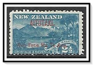 Aitutaki #3 Lake Wakatipu Overprinted NG