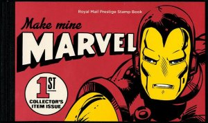 HERRICKSTAMP GREAT BRITAIN Sc.# BK224 Marvel Comics Prestige Booklet