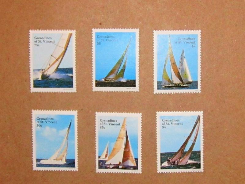 Grenadines of St. Vincent, 579-84, MNH Set. American Cup Yachts. SCV - $3.15