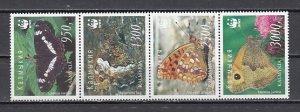 Kalmykia, 138-141. Russian Local. Butterflies strip of 4. ^