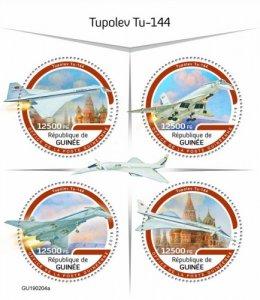 GUINEA - 2019 - Tupolev Tu-144 - Perf 4v Sheet - M N H