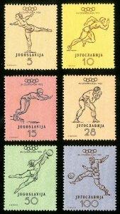 Yugoslavia Stamps # 359-64 VF MLH