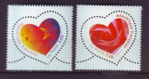 J20356  jlstamps 1999 france mnh set #2696-7 festival hearts perf 13