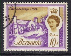 Bermuda 1962 - 68 QE2 10d Bermuda Cottage used SG 170a ( J1378 )
