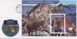 Gibraltar 1103 FDC cover prehistoric animal (2110 166)