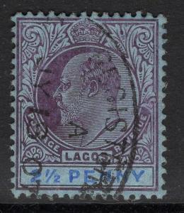 LAGOS SG57 1905 2½d DULL PURPLE & PURPLE/BLUE FINE USED