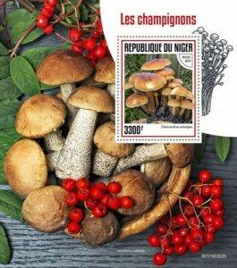 Niger - 2019 Mushrooms on Stamps - Stamp Souvenir Sheet - NIG190302b